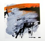 An abstract landscape artwork by artist Jilly Cobbe