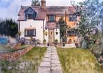 Detailed artwork of a private house commission by artist Jilly Cobbe